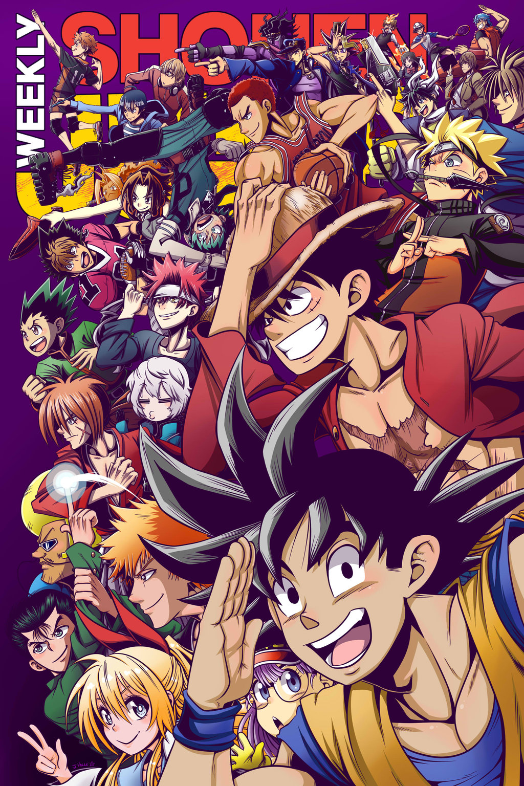 Source https kentaropjj deviantart com art weekly shonen jump 2016 cover contest entry 656475577