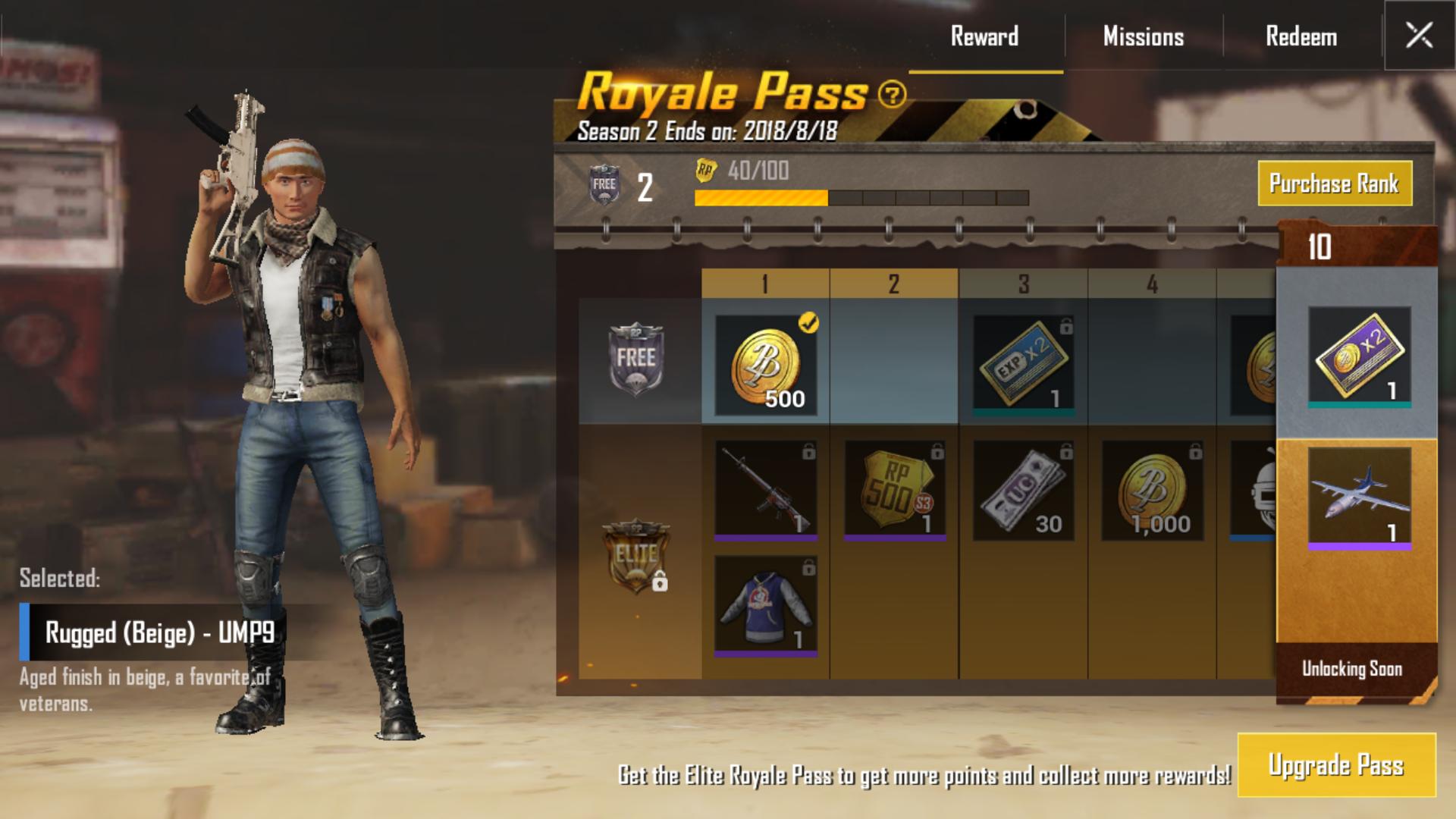 PUBG Mobile's Battle Pass: THE ROYALE PASS - THE MAGIC RAIN